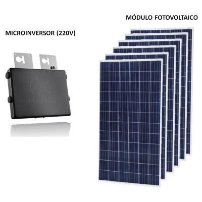 Kit Solar Grid-Tie 180 a 270 Kwh/Mês para Conexão à Rede Elétrica